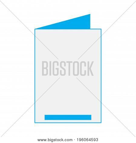 Isolated empty celebration card on a white background, Vector illustration