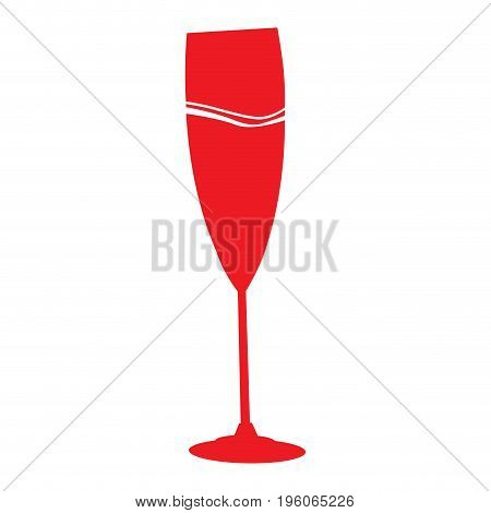 Isolated silhouette of a wine glass, Vector illustration
