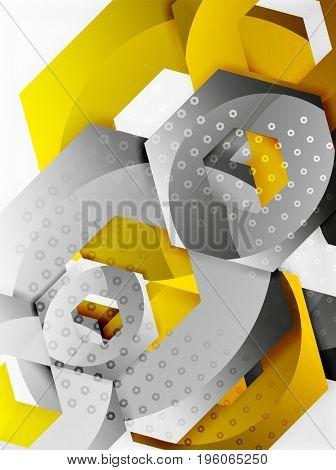 3d effect hexagon background