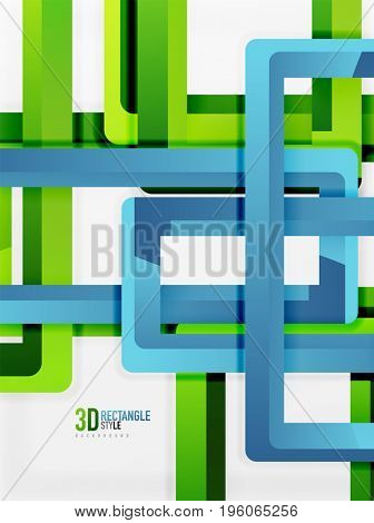 Rectangle tube elements, 3d background