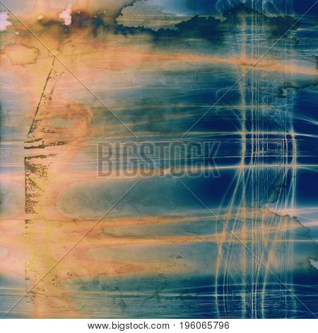 Decorated texture, antique vintage background with different color patterns: yellow (beige); brown; gray; blue; red (orange); cyan
