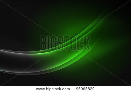 glowing wave, smoke design wavy lines