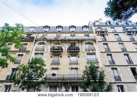antique city building in paris, france Europe