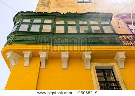 antique city building in Valletta,Malta Europe