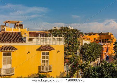 Centro Historicoaera of Cartagena de los indias Bolivar in Colombia South America