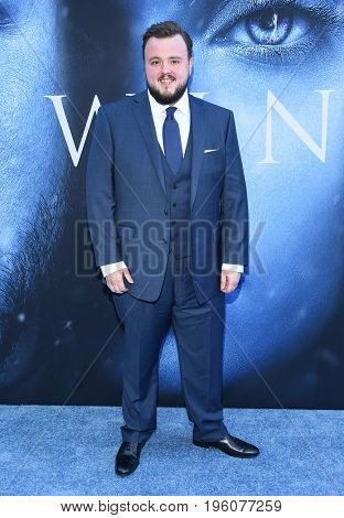 LOS ANGELES - JUL 12:  John Bradley arrives for the Season 8 premiere of HBO's 'Game of Thrones' on July 12, 2017 in Los Angeles, CA