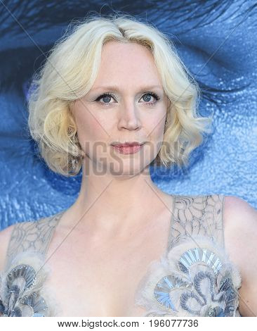 LOS ANGELES - JUL 12:  Gwendoline Christie arrives for the Season 8 premiere of HBO's 'Game of Thrones' on July 12, 2017 in Los Angeles, CA