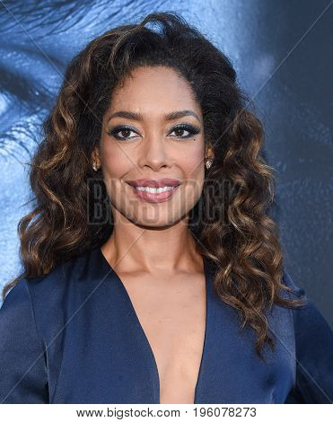 LOS ANGELES - JUL 12:  Gina Torres arrives for the Season 8 premiere of HBO's 'Game of Thrones' on July 12, 2017 in Los Angeles, CA