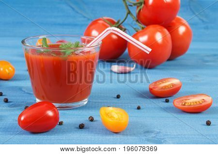Tomato Juice And Vegetables With Spices, Healthy Nutrition