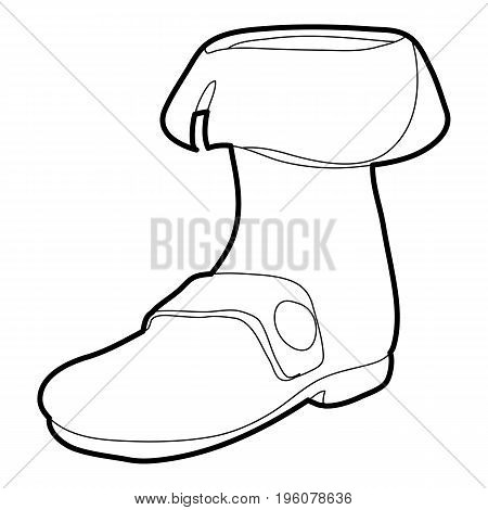 Footwear icon in outline style isolated on white vector illustration