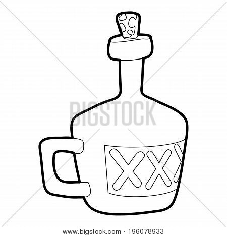 Drink icon in outline style isolated on white vector illustration