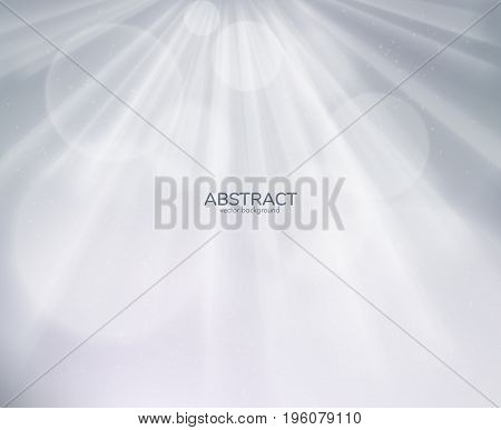 Neutral light rays grey background. Vector EPS10.