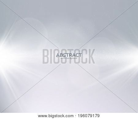 Neutral light rays grey background can be used for business presentations. Vector EPS10.