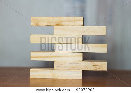 Concept Of Growth In Business,stack Of Wooden Block I