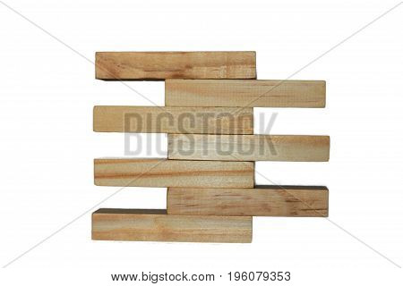 Concept Of Growth In Business,stack Of Wooden Block Isolated On White Background