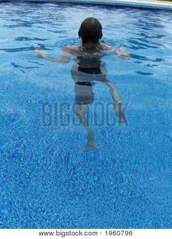 Boy Treading Water