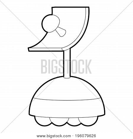 Robot antenna icon in outline style isolated on white vector illustration