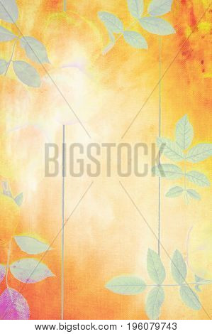 Artistic natural background with plants and leaves