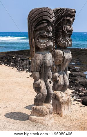 PU'UHONUA O HONAUNAU NATIONAL HISTORICAL PARK BIG ISLAND HAWAII