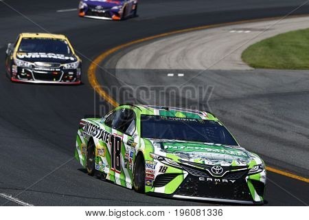 July 16, 2017 - Loudon, NH, USA: Kyle Busch (18) battles for position during the Overton's 301 at New Hampshire Motor Speedway in Loudon, NH.