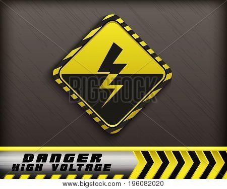 Vector illustration of High voltage danger sign
