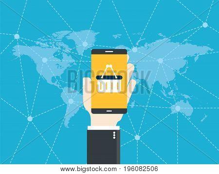 Mobile Commerce App. Online Shopping.