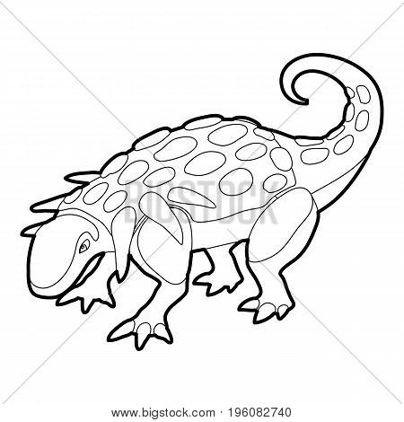 Evoplocephalus icon in outline style isolated on white vector illustration
