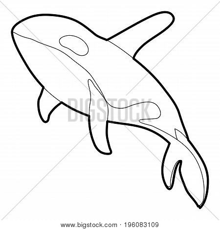 Grampus icon in outline style isolated on white vector illustration