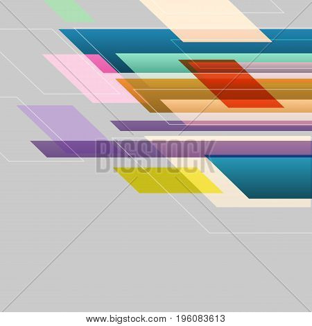 Colorful straight lines abstract background, stock vector