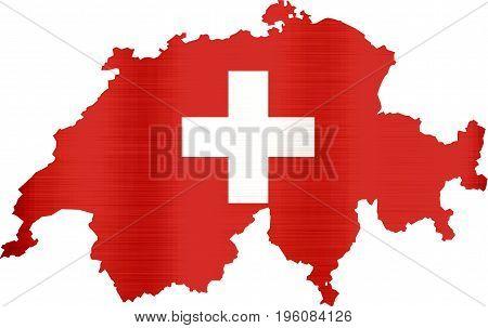 flag map of switzerland illustration country  shape