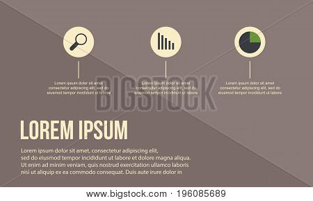 Busines Infographic with brown background vector art