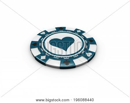 3D Illustration Of Casino Chip Isolated On White Background.