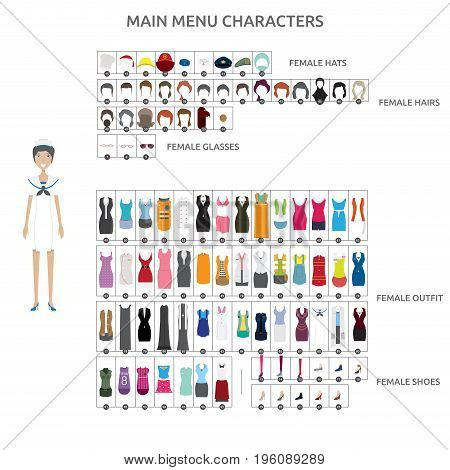 Character Creation Sailor   set of vector character illustration use for human, profession, business, marketing and much more.The set can be used for several purposes like: websites, print templates, presentation templates, and promotional materials.