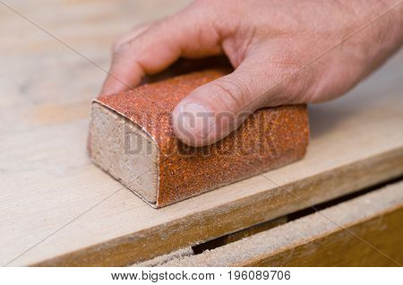 Sanding With A Sanding Block