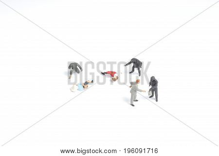 Thief Man Miniature Figure With Gun