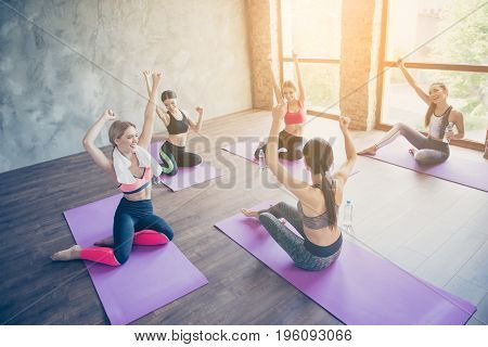 Sport, Vitality, Health, Weight Loss, Bodycare, Beauty, Wellness And Wellbeing Concept. Five Hot You