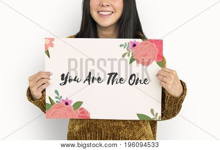 You Are The One Letter Message Words Graphic