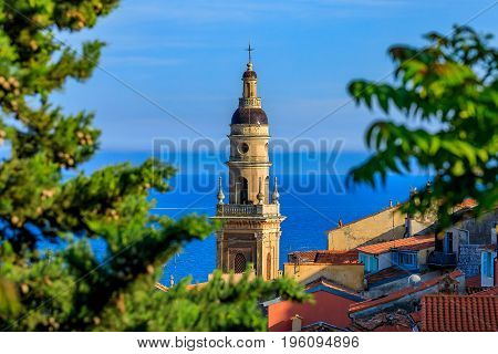 Old Town Of Menton On The French Riviera