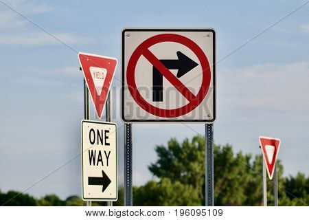 A number of traffic signs appear confusing.