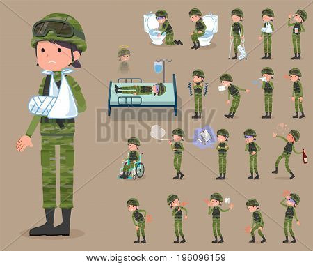 Flat Type Military Wear Woman_sickness