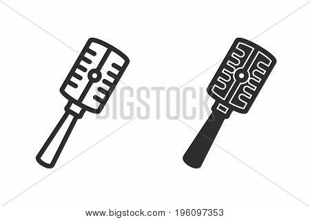 Microphone vector icon. Black illustration isolated on white background for graphic and web design.