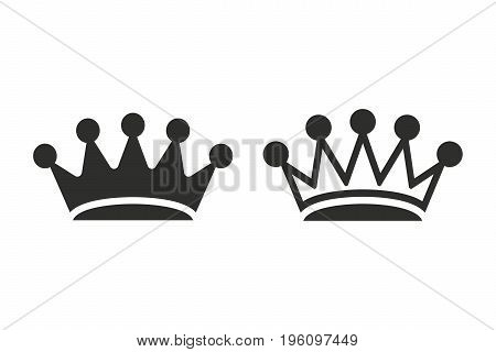 Crown vector icon. Black illustration isolated on white background for graphic and web design.