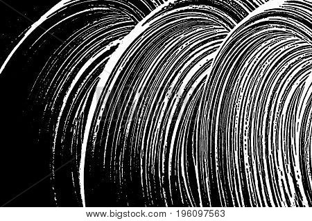 Grunge Soap Texture. Distress Black And White Rough Foam Trace Symmetrical Background. Noise Dirty R