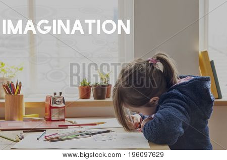 Kids with Imagination Learning Knowledge Word