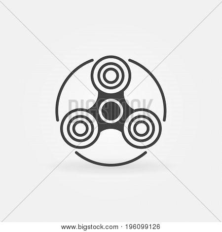 Fidget spinner simple icon. Vector hand-spinner concept symbol or design element
