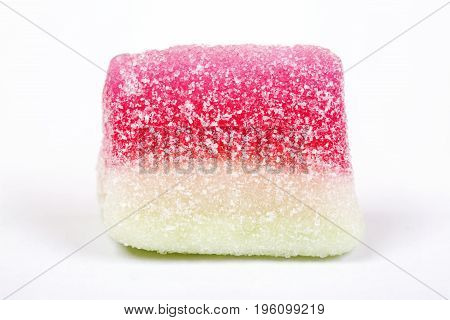 Jelly sugar candy isolated on white background