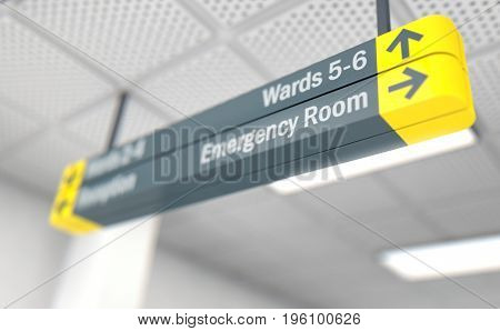 Hospital Directional Sign Emergency Room