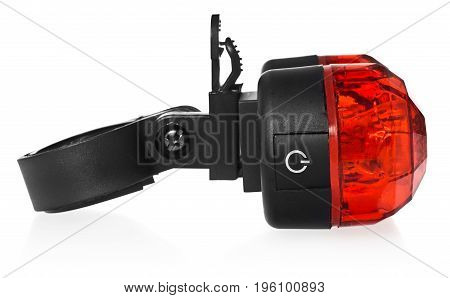 Rear Bike Lamp, Plastic In A Red Color.