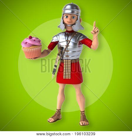 Roman soldier - 3D Illustration