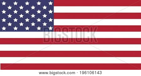 USA Flag. Vector image of USA flag. The Star-Spangled Banner. The color and size of the original. United States of America.